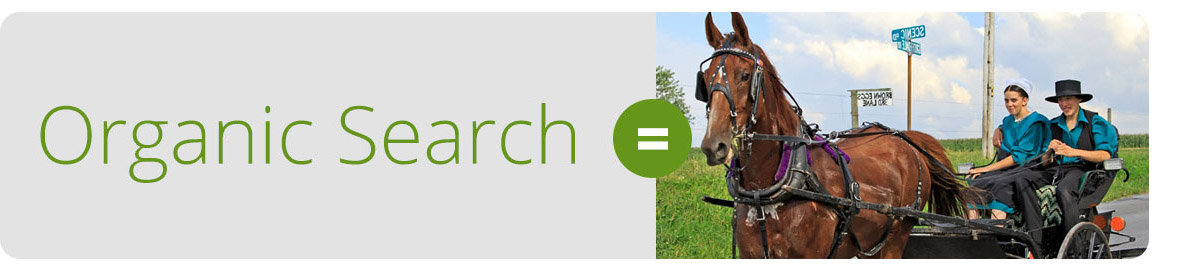 Organic Search is like an Amish Courtship