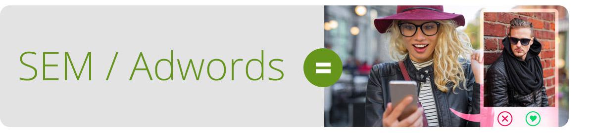 Adwords is like Tinder